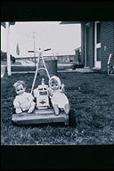 Dolls with Lawnmower