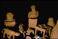 Haniwa Nicks (made in memory of Nick de Caro, 1938-1992), (detail)