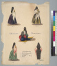 [Five studies of Peruvian female costume]