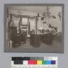 """Delta Upsilon House [fraternity] room, ca. 1900,"" University of California at Berkeley. [photographic print]"