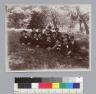 """U.C. students,"" group portrait of men on the grass, University of California at Berkeley. [photographic print]"