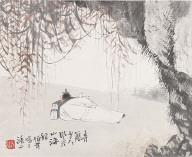 2 Album Leaves: Figures in Landscapes