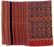Textile, funeral shroud or wall hanging. Indonesia