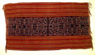 Textile, selimut, man's hip or shoulder wrap. Indonesia