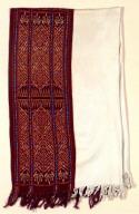 Textile, selimut, man's hip or shoulder wrap. Indonesia