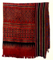 "Textile, ""pore lonjong""?, funeral shroud or wall hanging. Indonesia"