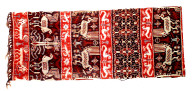 Textile, hinggi, funeral shroud or man's ceremonial wrap. Indonesia