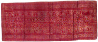 Textile, waist cloth, ceremonial decoration. Indonesia
