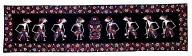 """Batik textile with """"wayang"""" or shadow puppet figures. Indonesia"""