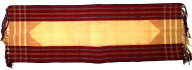 Textile, senai, man's shoulder cloth. Indonesia