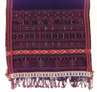 Textile, ulos, paromba sadum?, child carrier. Indonesia