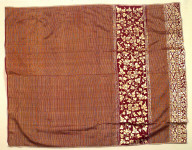 Textile, kamben prada, dance costume or ritual cloth. Indonesia