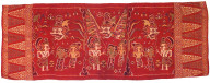 Textile, temple decoration or ceremonial clothing accessory. Indonesia