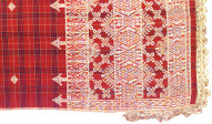 Textile, salendang, shawl, sash, or shoulder cloth. Indonesia