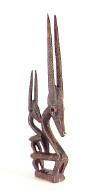 Bamana (Mali) antelope headdress (chi wara)