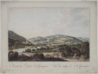 Ansicht des Dorfes St. Christophen (View of the Village of St. Christopher)