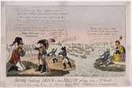 Boney beating Mack--and Nelson giving him a Whack!! or the British Tars giving Boney his Hearts desire. Ships, Colonies & Commerce