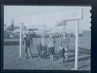 Shipyard Worker & Family in Trailer Camp