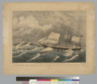 An American ship rescuing the officers and crew of a British man of war [ship]