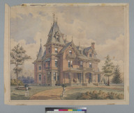 [Architectural drawing of residence, California?]