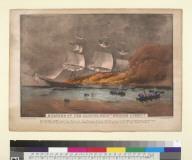 """Burning of the clipper ship """"Golden Light"""""""
