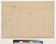 [Outline and measurements of canoe of Nukahiva, Marquesas Islands, Oceania]