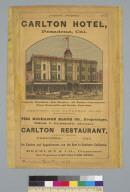 Carlton Hotel, Pasadena, Cal[ifornia]