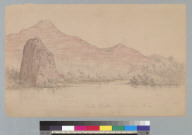 Castle Rock, Columbia R[iver, Oregon/Washington] 1857