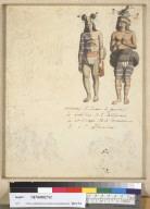 [War dance costumes of the inhabitants of California]