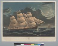 """[Clipper ship """"Dreadnought"""" off Tuskar Light]"""