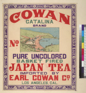 [Cowan Catalina brand Japanese tea]