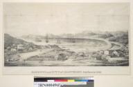 Harbor and city of Monterey, California 1842.