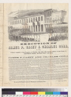 Execution of James P. Casey and Charles Cora [by the Vigilance Committee, of San Francisco, California]