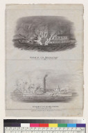 Explosion of the American Eagle/Explosion of the Steamer Stockton [California]