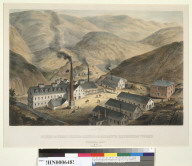 North View, Gould and Curry Silver Mining Company's Reduction Works, Virginia City, N[evada] T[erritory], incorporated June 27th 1860