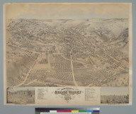 Bird's-eye view of Grass Valley, Nevada County, Cal[ifornia] 1871