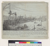 James Stuart hung by the Vigilance Committee on Market St[reet] Wharf on the 11th of July, 1851 [San Francisco, California]