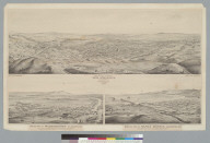 Bird's-eye view of Los Angeles, California: looking south to the Pacific Ocean, 1877