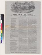 Miner's decree: or a new version of the Ten Commandments