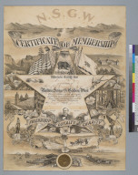 [Native Sons of the Golden West, certificate of membership]