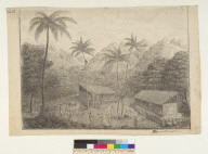 [View of inhabited valley at Nukahiva, Marquesas Islands, Oceania]