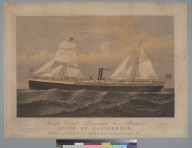 """Pacific Coast Steamship Co.'s steamer """"State of California"""""""