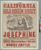 "[Packet ship ""Josephine"" to California advertisement]"