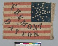 [John C. Fremont and William Lewis Dayton flag]