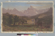 [Indian encampment at foot of Big Horn Range, Rocky Mountains, Montana]