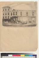 Rosenbaum's Store & Railroad House, Clay St[reet], S[an] F[rancisco, California] as they appeared after the earthquake Oct[ober] 21st, 1868