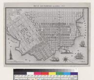 Map of San Francisco, California, 1853