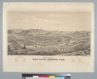 Bird's-eye view of San Luis Obispo, Cal[ifornia] 1877