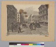 California, view of Sansome Street, showing the center of the jobbing trade of San Francisco and the Bank of California