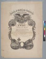Society of California Volunteers [certificate]
